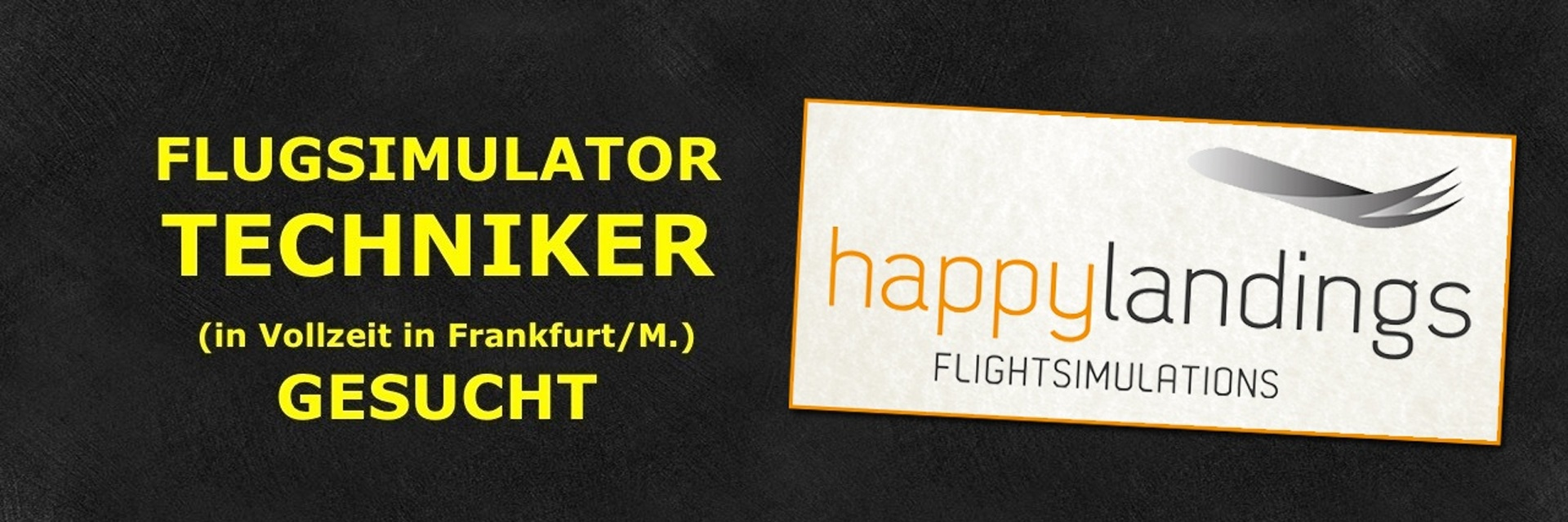 HappyLandings sucht Flugsimulator-Techniker